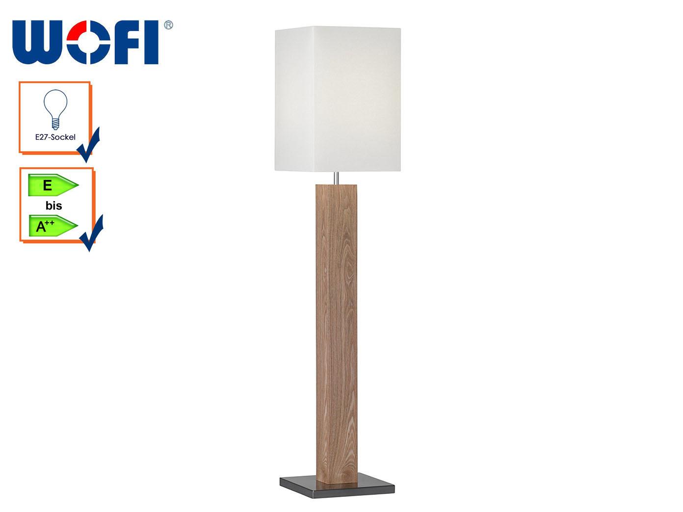 Wofi Design Stehleuchte Holz Schirm Stoff creme, Stehlampe ...