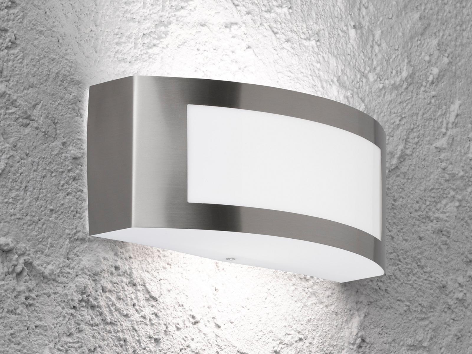 IN ACCIAIO INOX 25cm e27 Lampada esterno//Lampada Muro B illuminazione di facciata continua GIARDINO CASA