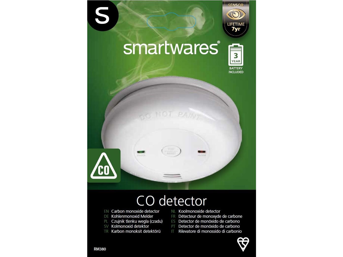 Gaswarngerät CO2 Melder Warner Gasdetektor Kohlenmonoxid Gas Warnmelder Alarm