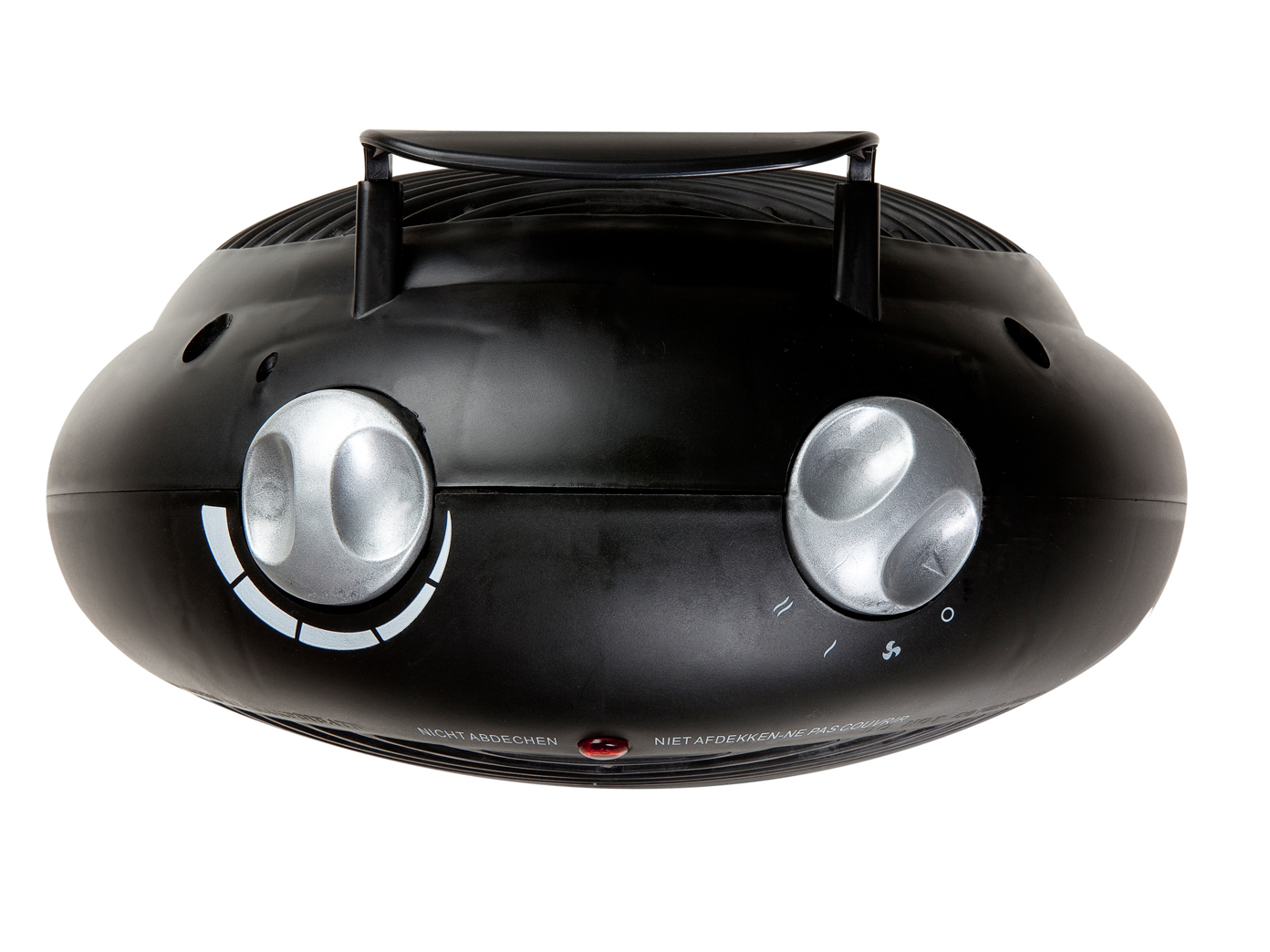 Miniheizlüfter forte 2000 W des perforations avec Thermostat /& Ventilateur En Noir
