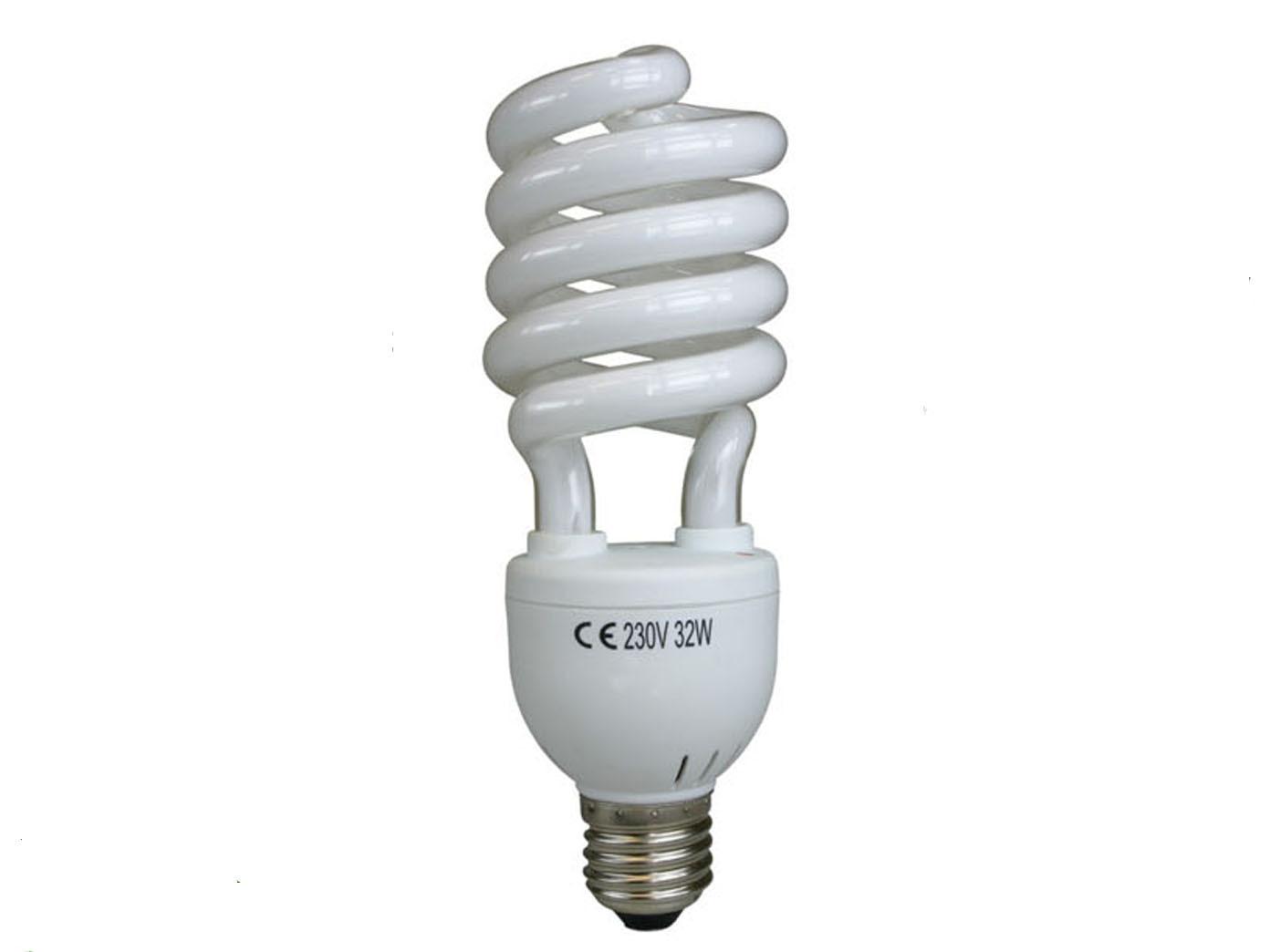 Energiesparleuchtmittel Spirale für E27 Fassung 30 Watt kaltweiß Energielampe