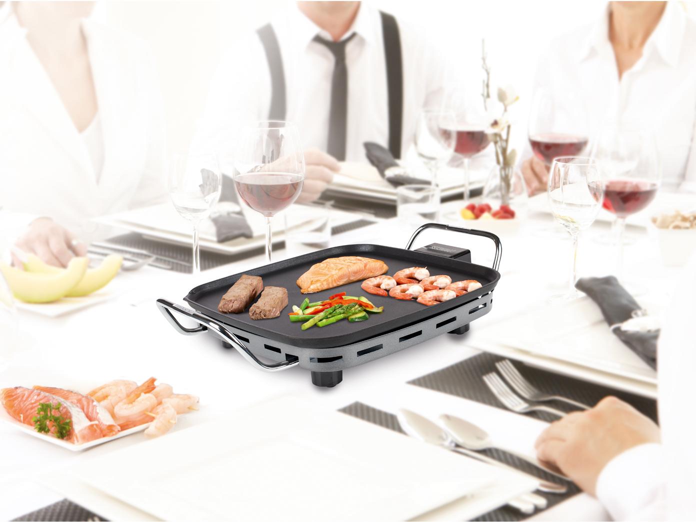 Piccolo Tavolo Grill Grill elettrico 1900w anti rivestimento di detenzione-pulizia semplice