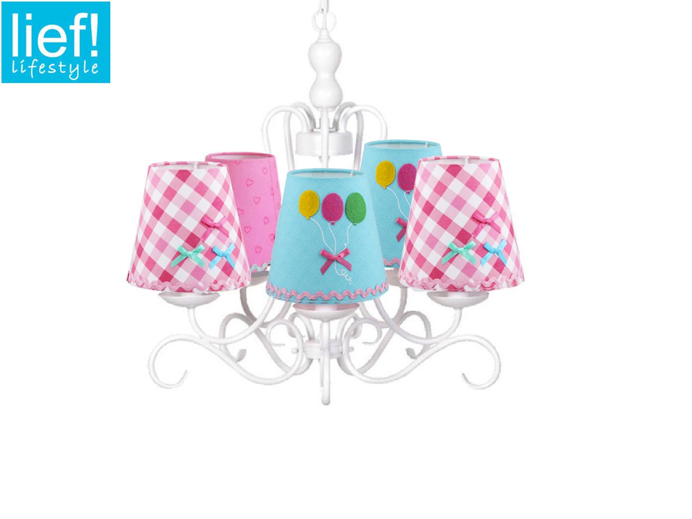 KINDER KRONLEUCHTER WEISS - Lampenschirme bunt - Hänge Lampen fürs  Kinderzimmer