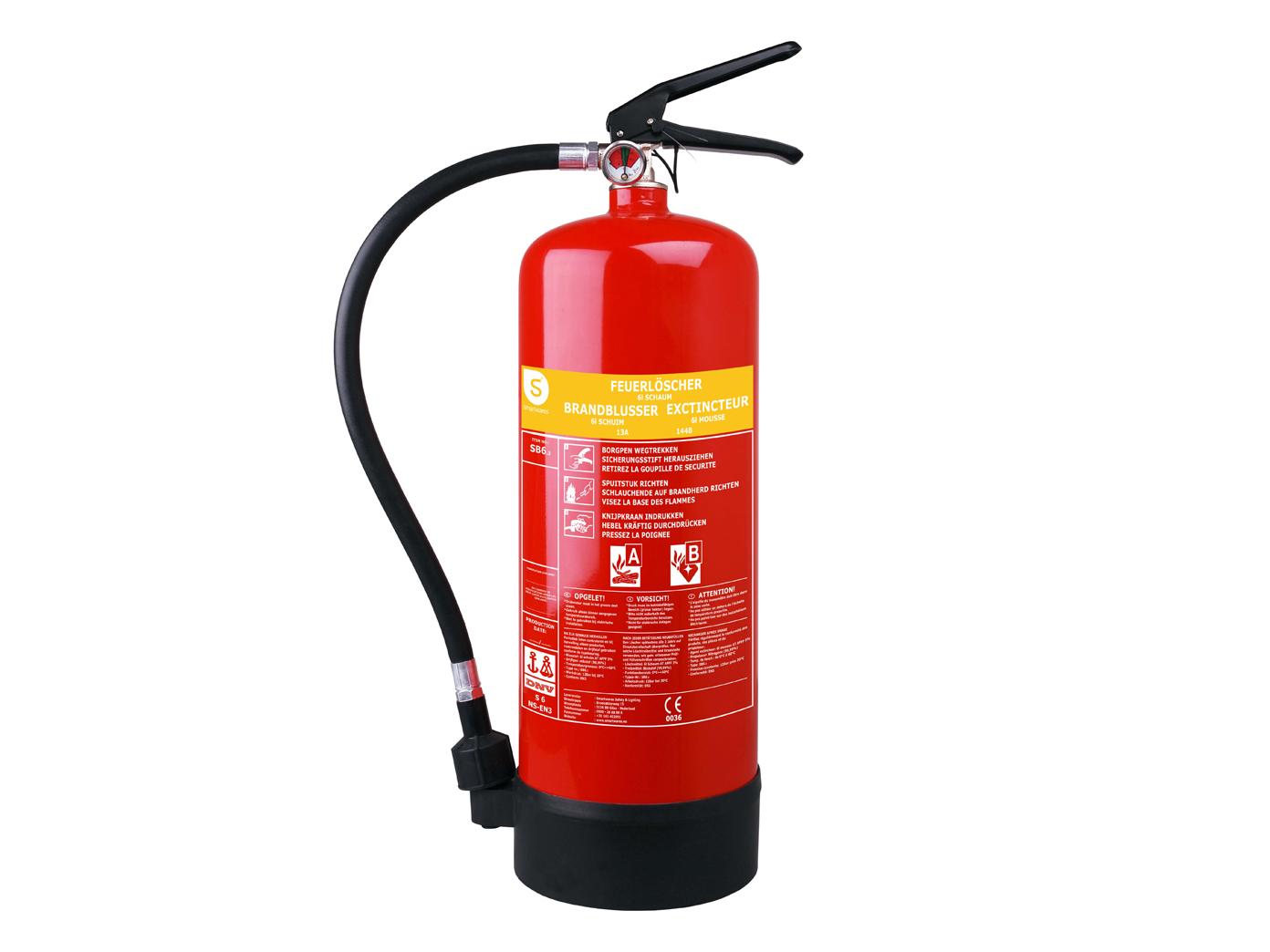 Schaumlöscher 6 Liter, Brandklasse A, B, Brandbekämpfun<wbr/>g Smartwares