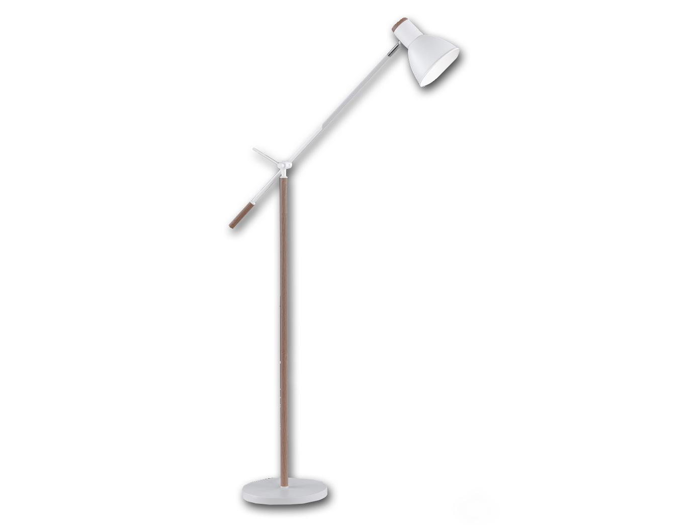 Stehlampe Schwenkbar Mit Led Weiss Holzfarbig H 150cm Burolampen