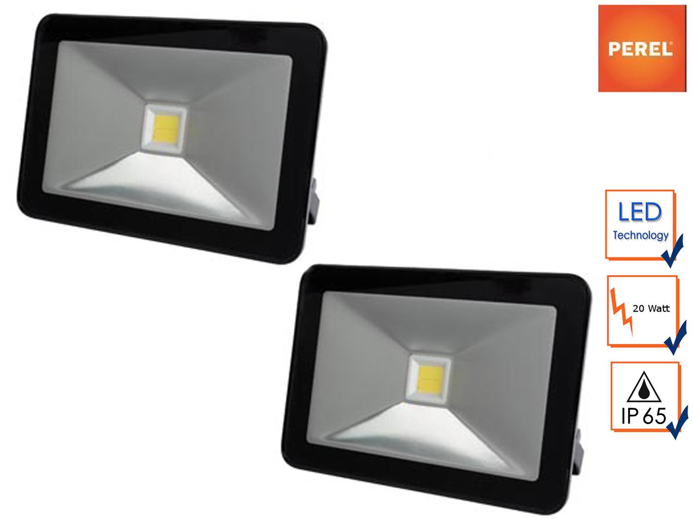 2 Pzi. 20w LED Proiettore di lavoro bianco caldo, Muro Riflettore Alluvione Luce portatile a