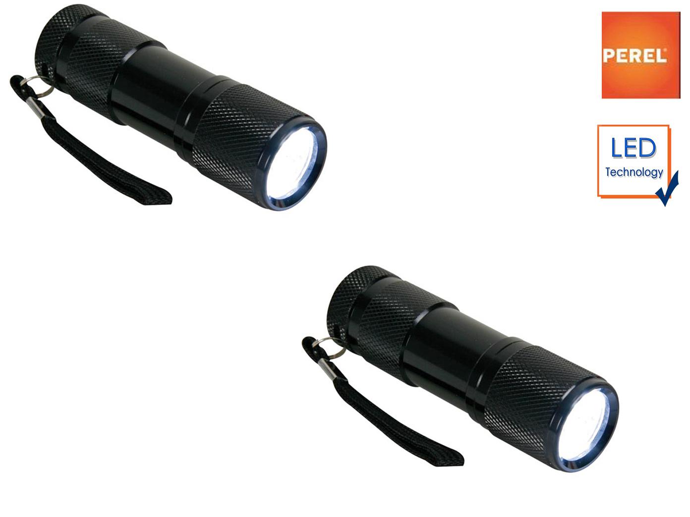 2er Set Taschenlampen mit extra hellen LEDs, Handlampen wetterfest mit Hülle