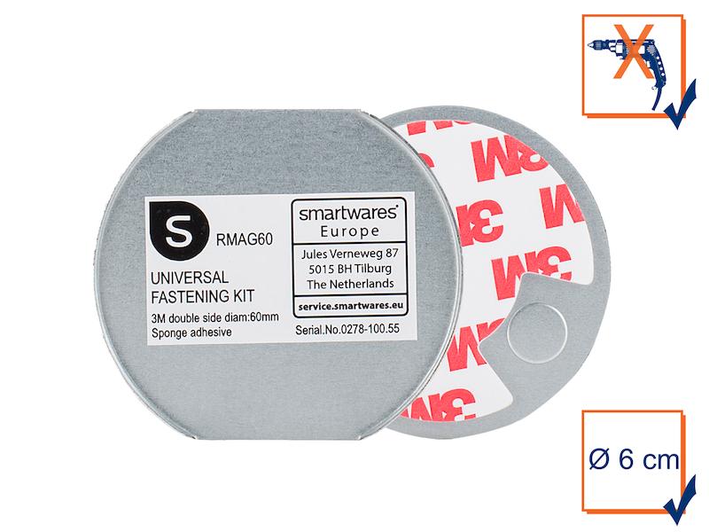 Universal Magnethalterung 3M Rauchmelder Magnetbefestigung Magnet Halterung