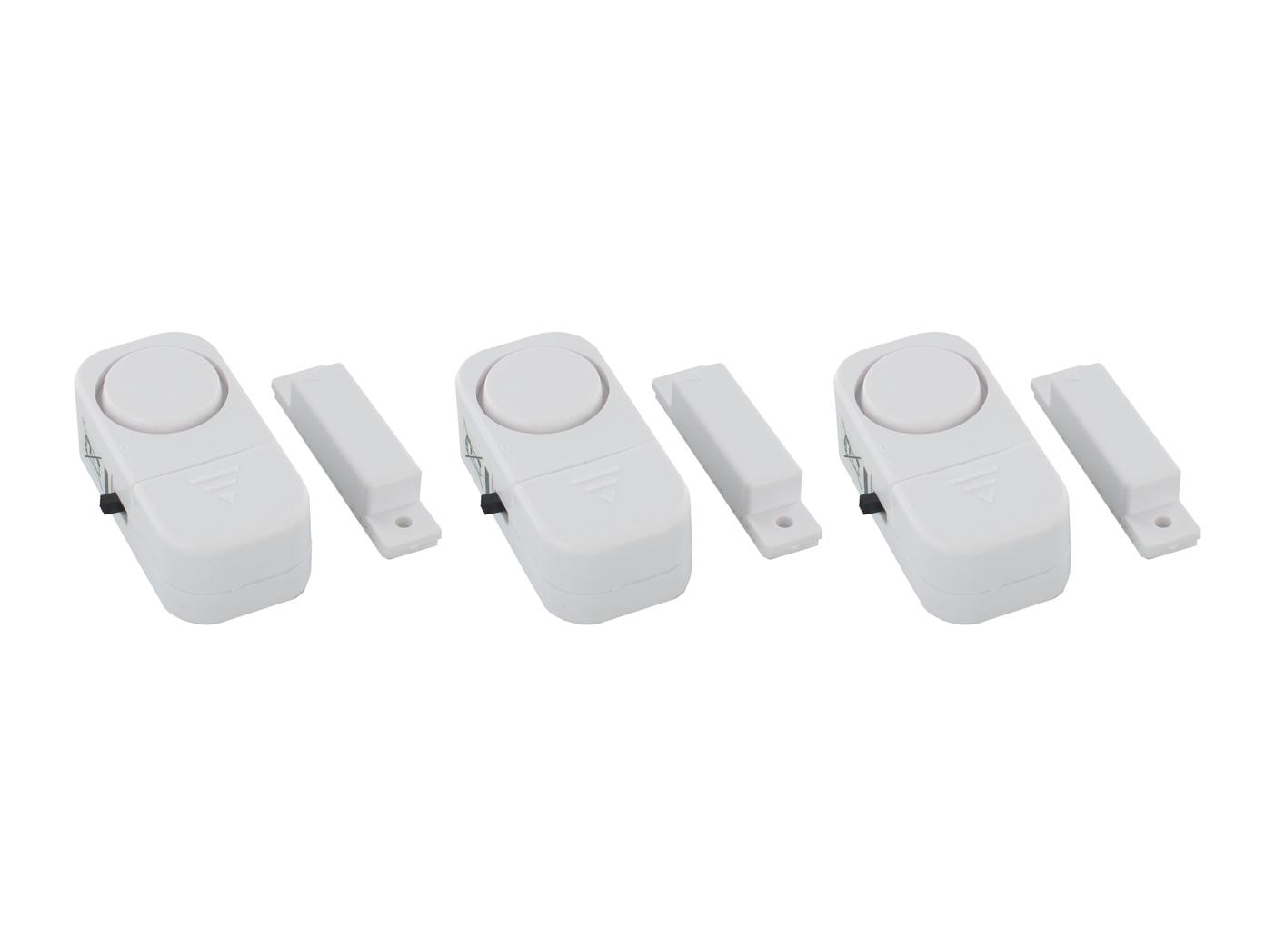 3er-set fenstersicherung türsicherung alarm türsirene minialarm
