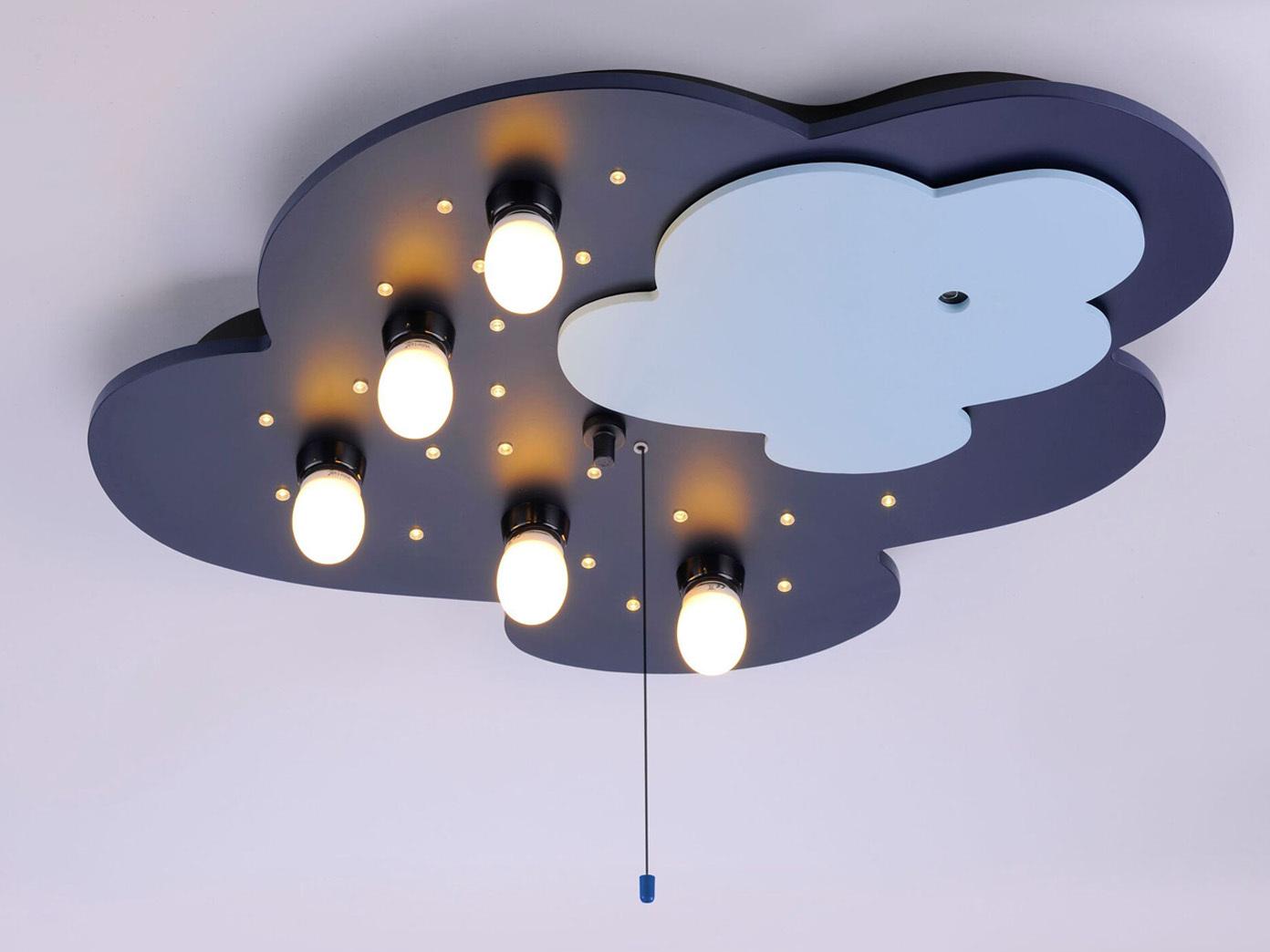 deckenlampe f r kinderzimmer neu an smartphone koppelbar led schlummerlicht ebay. Black Bedroom Furniture Sets. Home Design Ideas