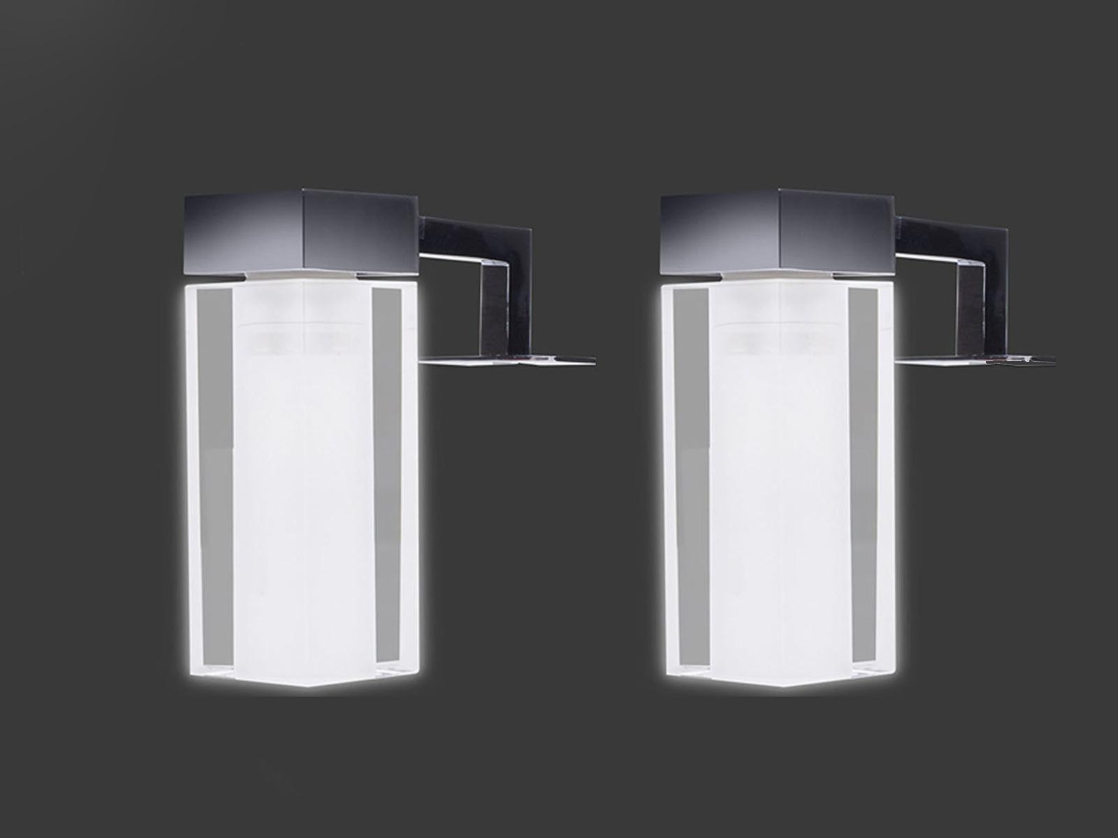 2x Badezimmer Spielleuchten mit LED, Lampenschirme Glas Beleuchtung ...