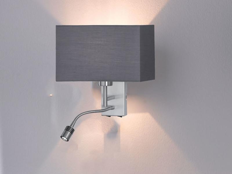 wandlampe mit schirm flexiblem leseleuchte 2 schalter schlafzimmerlampe licht ebay. Black Bedroom Furniture Sets. Home Design Ideas