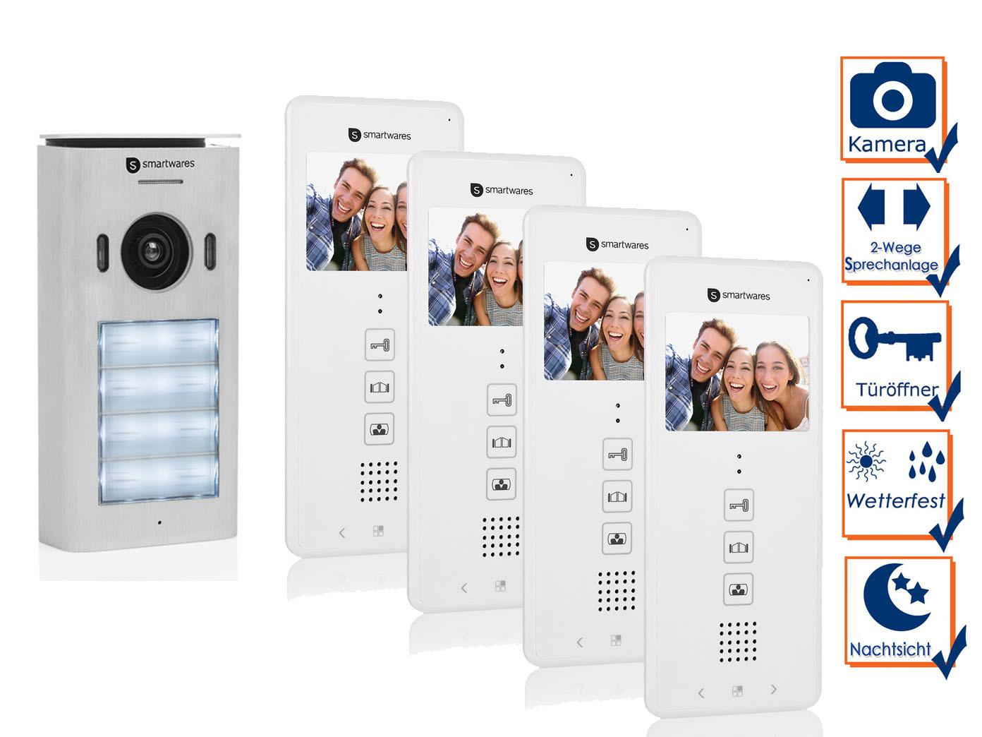 2 draht video türsprechanlage klingelanlage mehrfamilienhaus