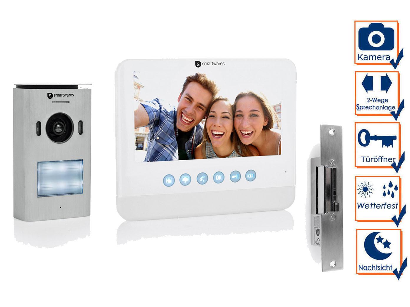 video türsprechanlagen set 1 familienhaus, gegensprechanlage mit