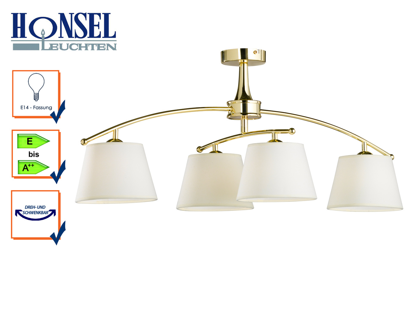 Amüsant Messing Deckenlampe Das Beste Von Das Bild Wird Geladen Deckenleuchte-4-flammig-schwenkbar-messing-poliert- Deckenlampe-wohnzimmer-