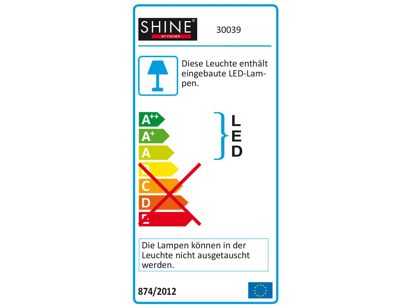 2 LED Wandlampen Antik Stil Schalter H. 45cm Wohnzimmerlampe ...