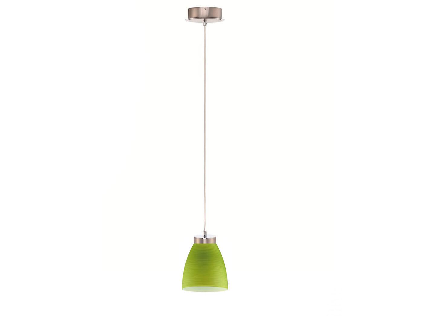 LED Pendellampe Glasschirm grün gewischt Hängeleuchte Pendel Esstisch Küche