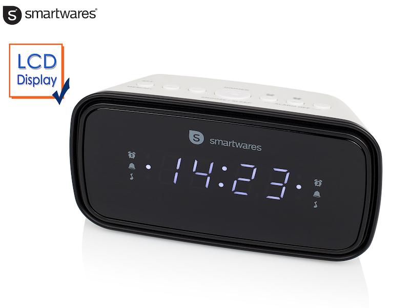 radiowecker 2 weckzeiten schlummerfunktion lcd display. Black Bedroom Furniture Sets. Home Design Ideas