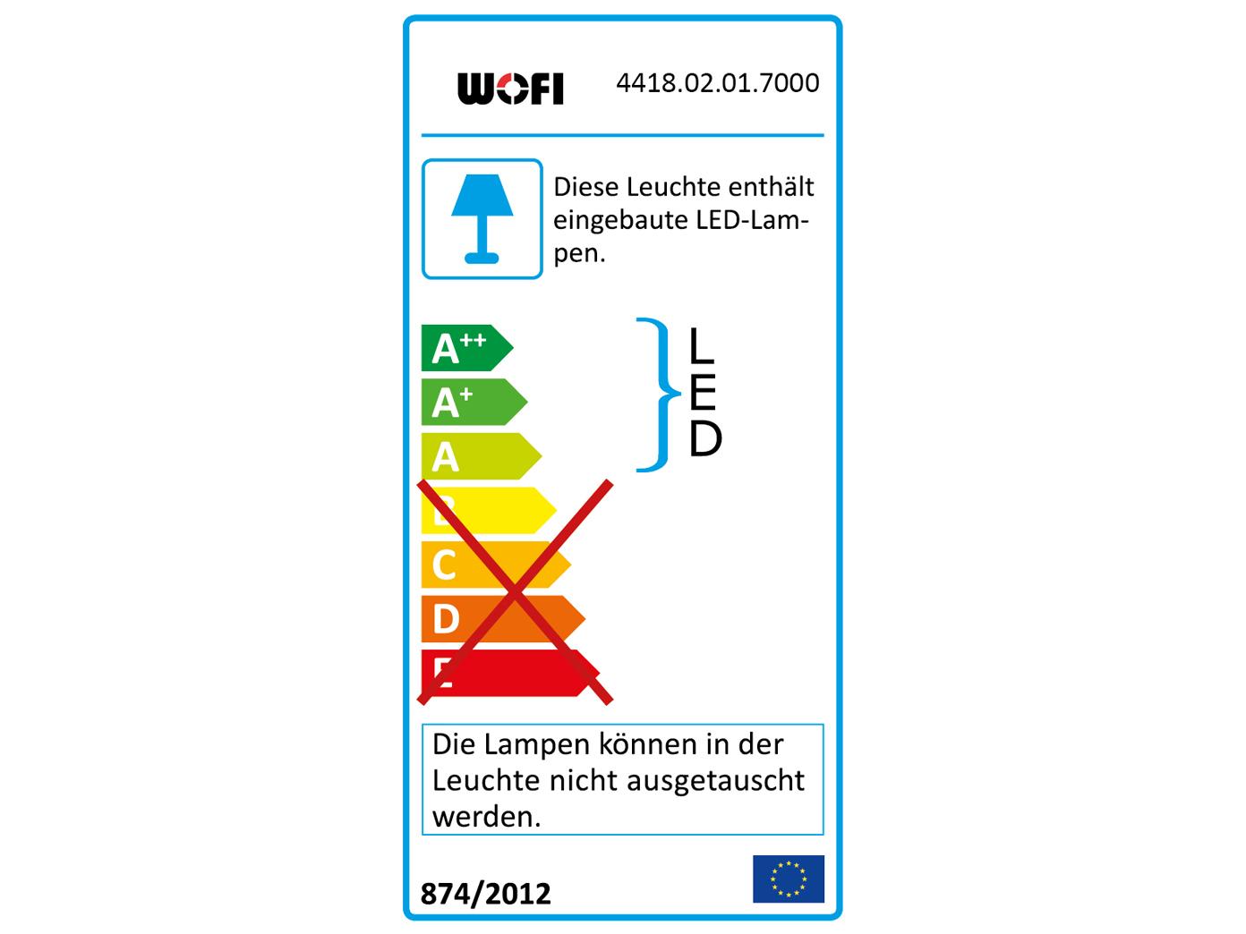 2 Chrom polierte 2-fl. LED Wandlampen mit Glaskristallen L. 33cm 33cm 33cm Wohnzimmerlampe | Feine Verarbeitung  08c776