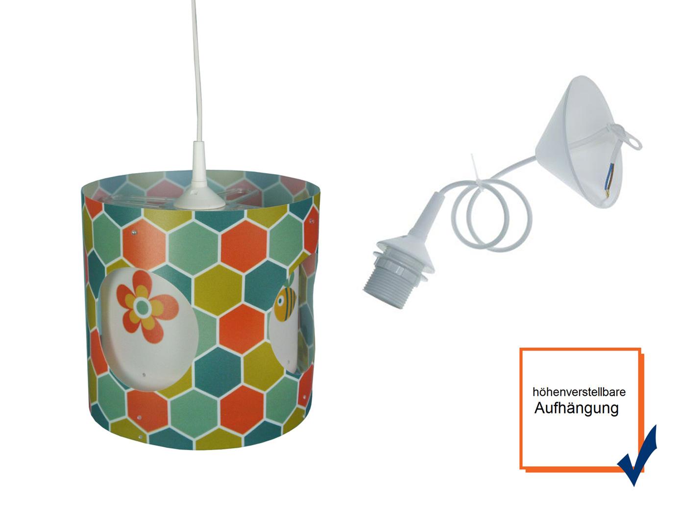 KINDER PENDELLEUCHTE DREHEND Lampenschirm Kinderzimmer Lampe Decke ...