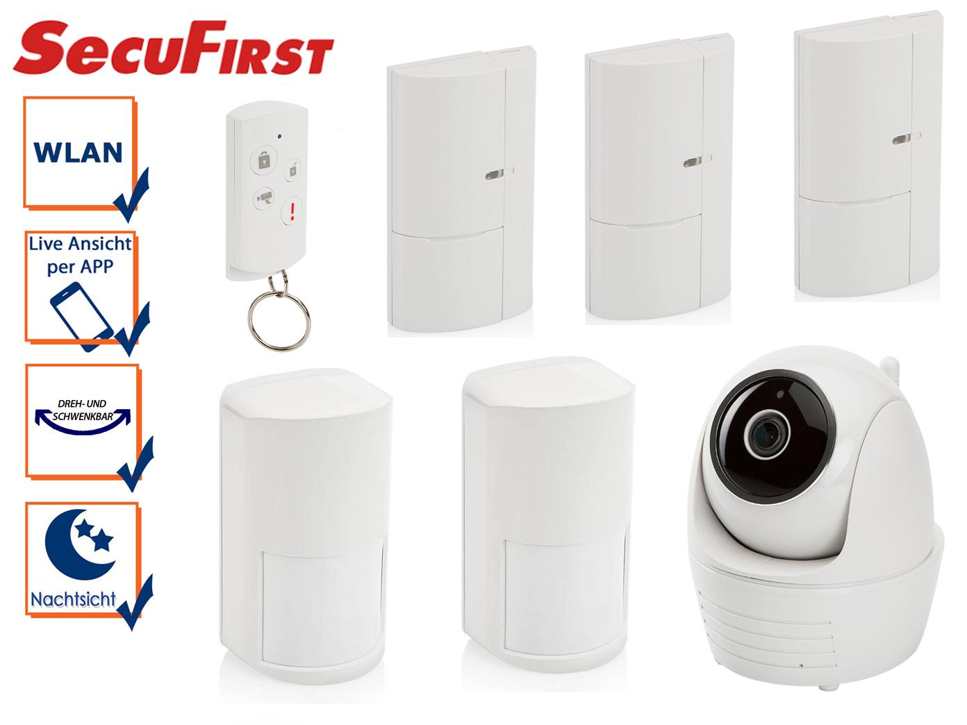 Alarmsystem drahtlos Nachtsicht IP-Kamera Bewegungsmelder Tür-  Fensterkontakt