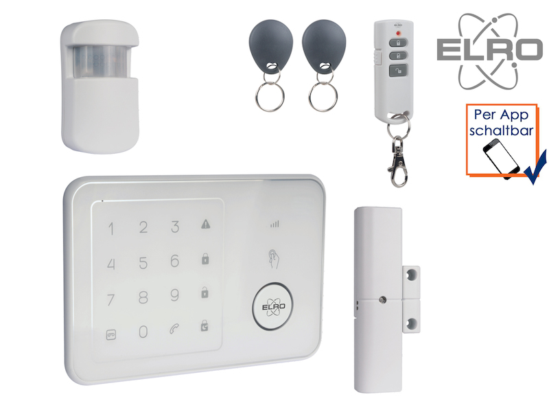 elro smart home einbruchschutz gsm alarm handy app. Black Bedroom Furniture Sets. Home Design Ideas