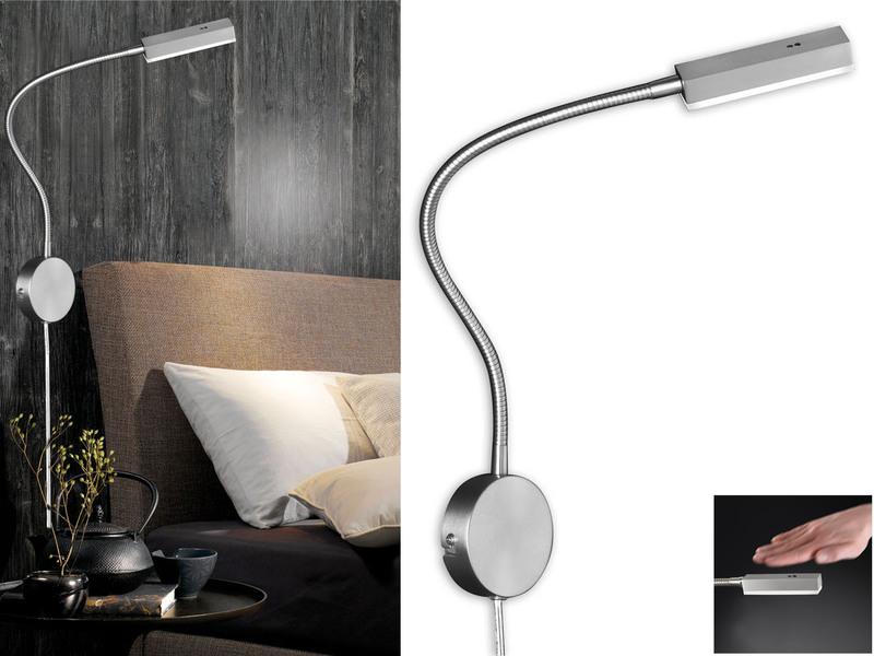 Honsel led leseleuchte dimmbar nachttischlampe flexibel for Leselampe designklassiker