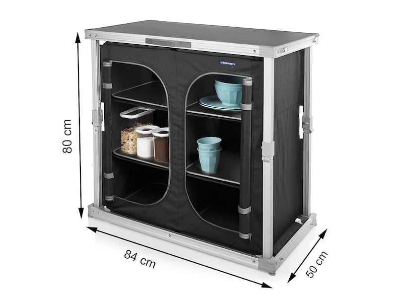 Outdoorküche Klappbar Netz : Alu picknickküche wetterfester camping schrank klappbar mit 6