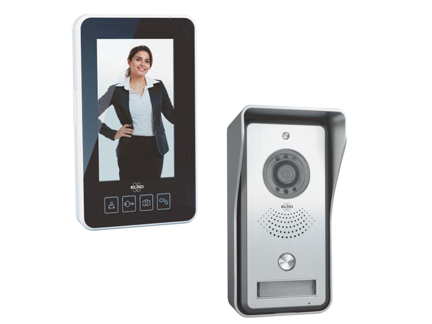 Video Funkklingel mit Gegensprechanlage, Wechselsprechanlage für Einfamilienhaus