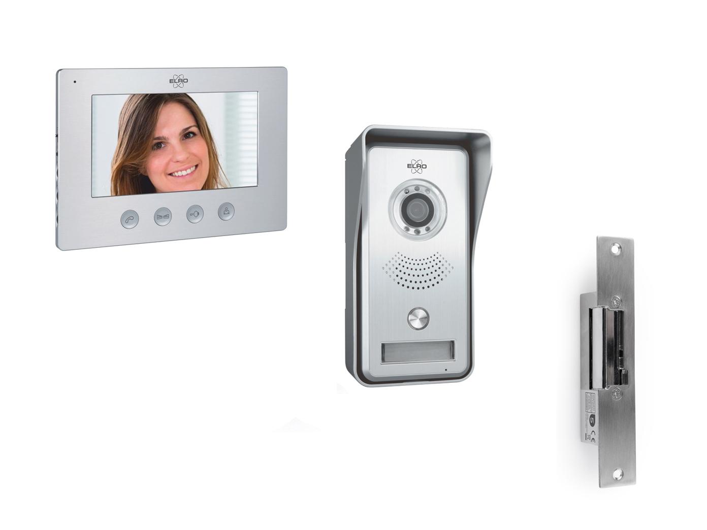 details zu elro ip sprechanlage mit kamera & türöffner, gegensprechanlage  für 1familienhaus