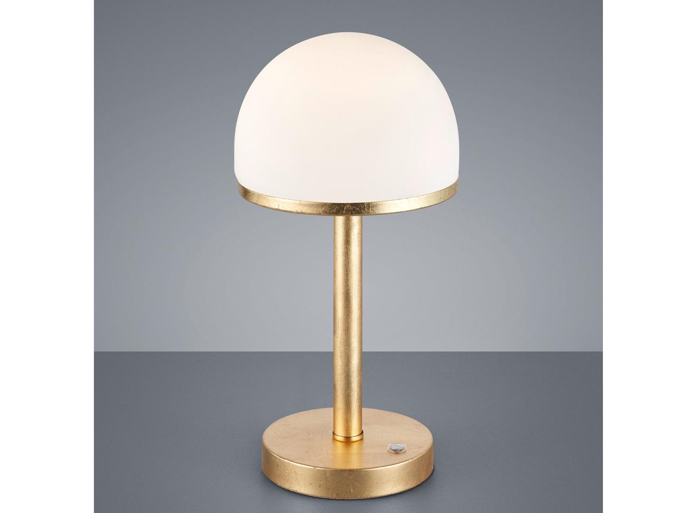 TOUCH Design LED Nachttischlampe dimmbare Wohnzimmerleuchte Gold foliert   weiss