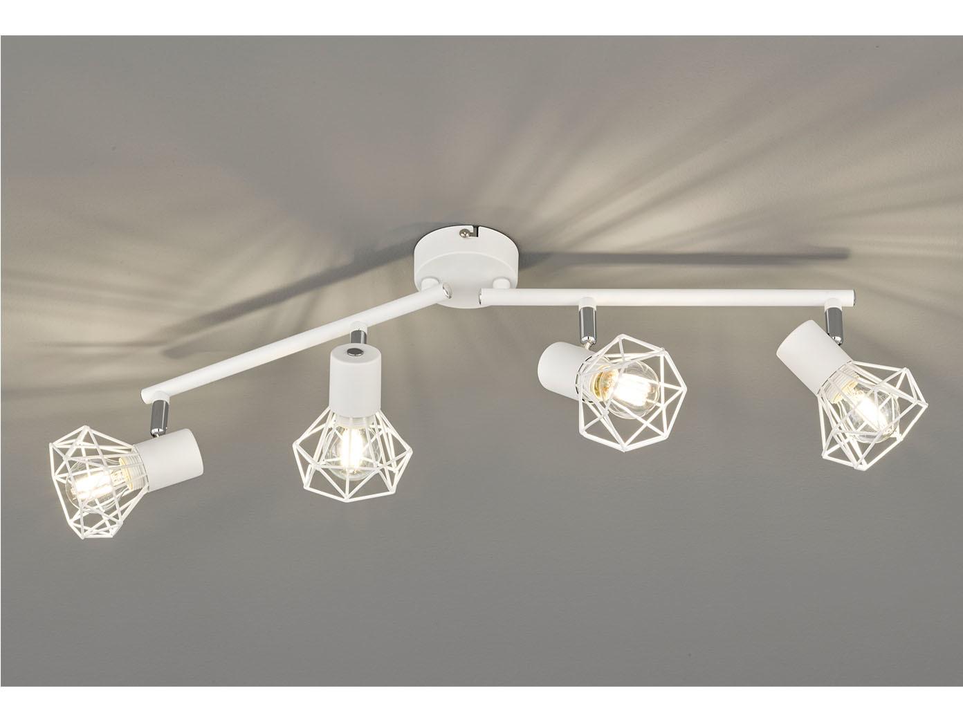 Coole Design Deckenlampe Mit Led Strahler Weiss Schwenkbar