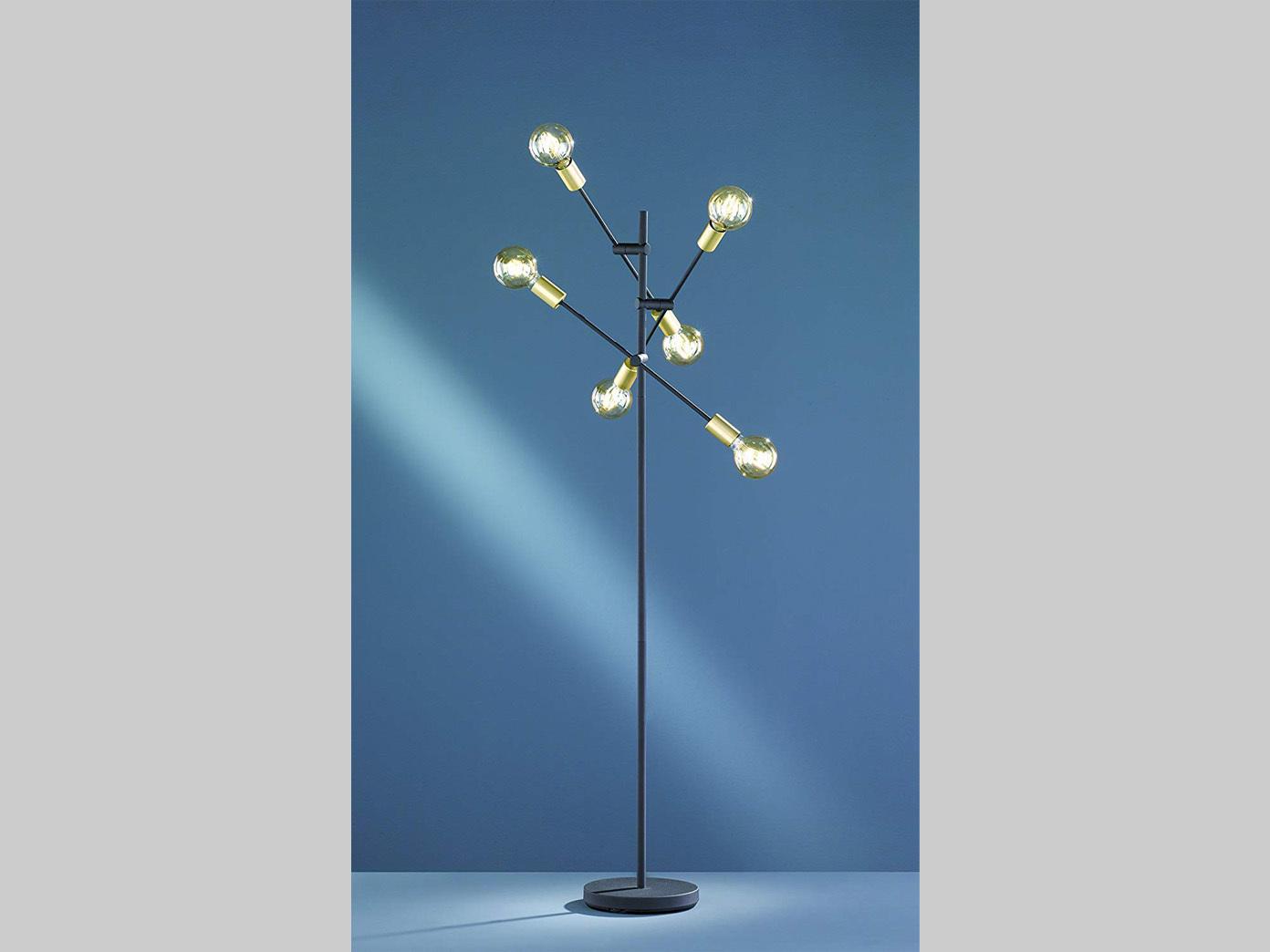 Design Standlampe schwenkbar schwarz matt bronze mit mit mit 6 FILAMENT LED 165cm Ø54cm   Charmantes Design     3d7d07