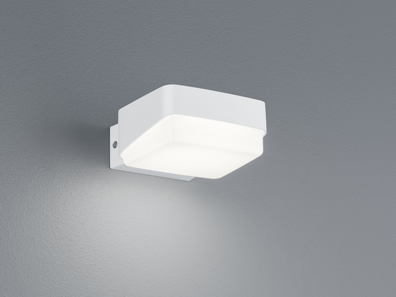2 Moderne &eckige LED Wandlampen für drinnen drinnen drinnen & draußen Aluminium matt weiß IP65 375eaf