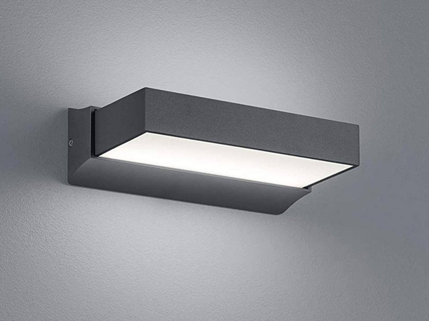 LED Außenwandlampe ALU in anthrazit up & down Carport Beleuchtung IP65 Höhe 7cm