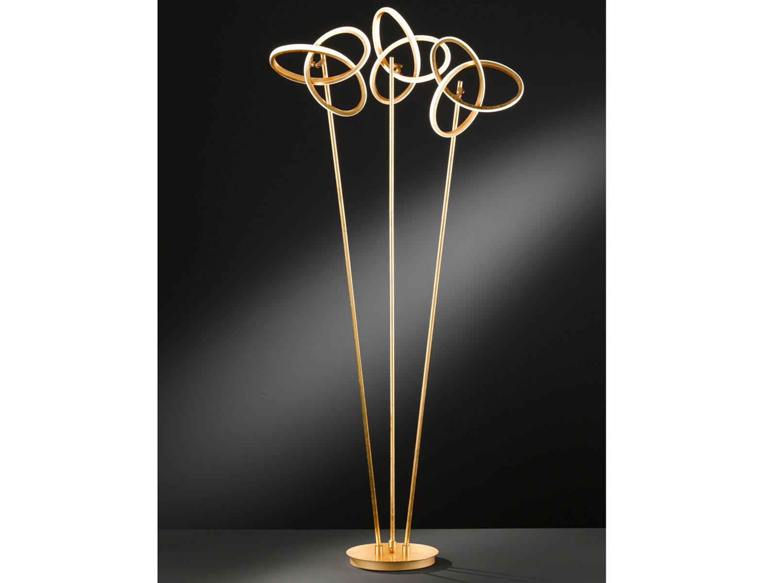 Standleuchte in in in Goldfarben Höhe 140cm 39W LED verstellbar - Esszimmerleuchten  | Online-verkauf  5d3e48