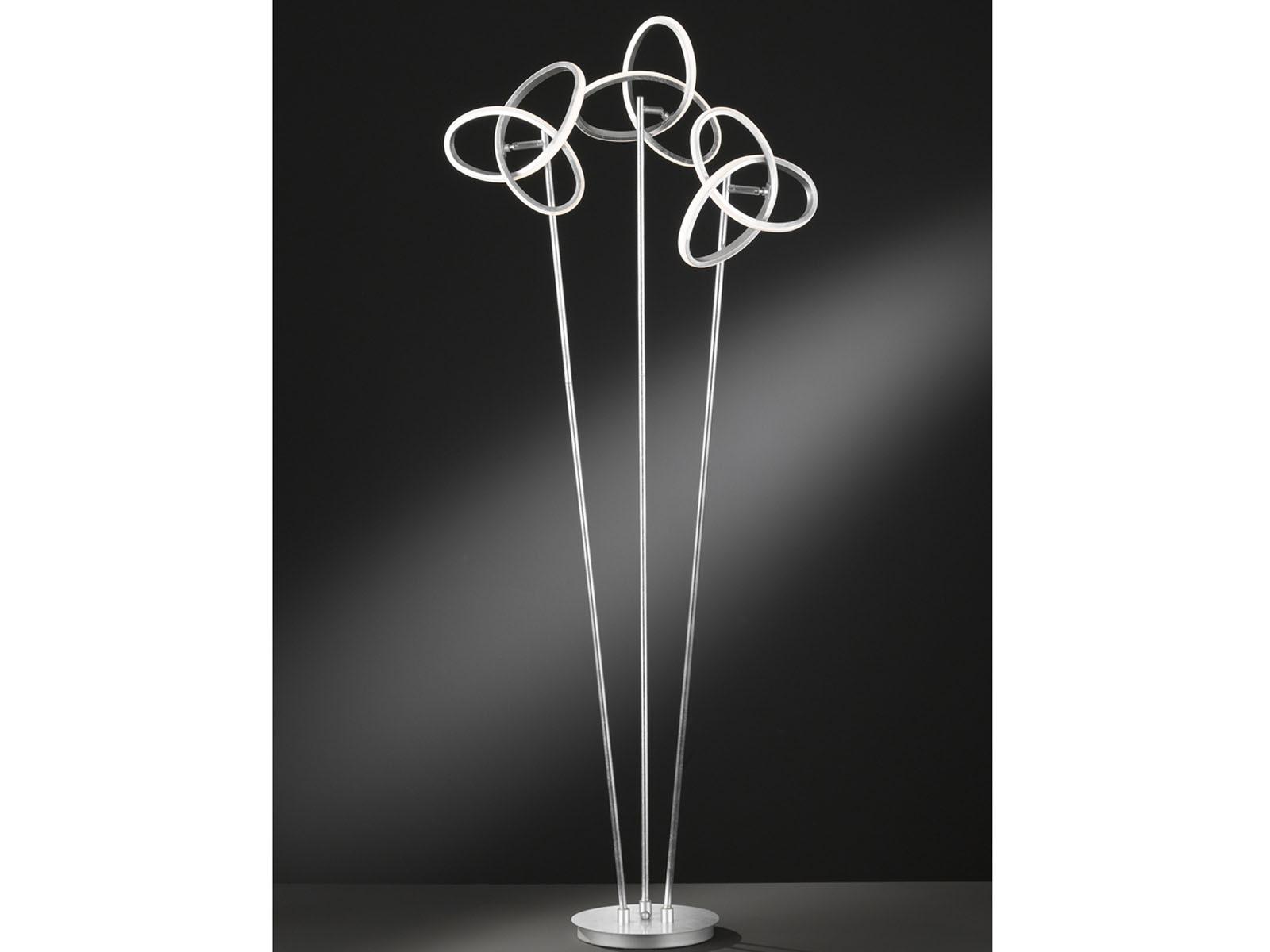 Standleuchte in Silberfarben Höhe Höhe Höhe 140cm 39W LED verstellbar - Esszimmerleuchten  | Sale Online Shop  ee4f04