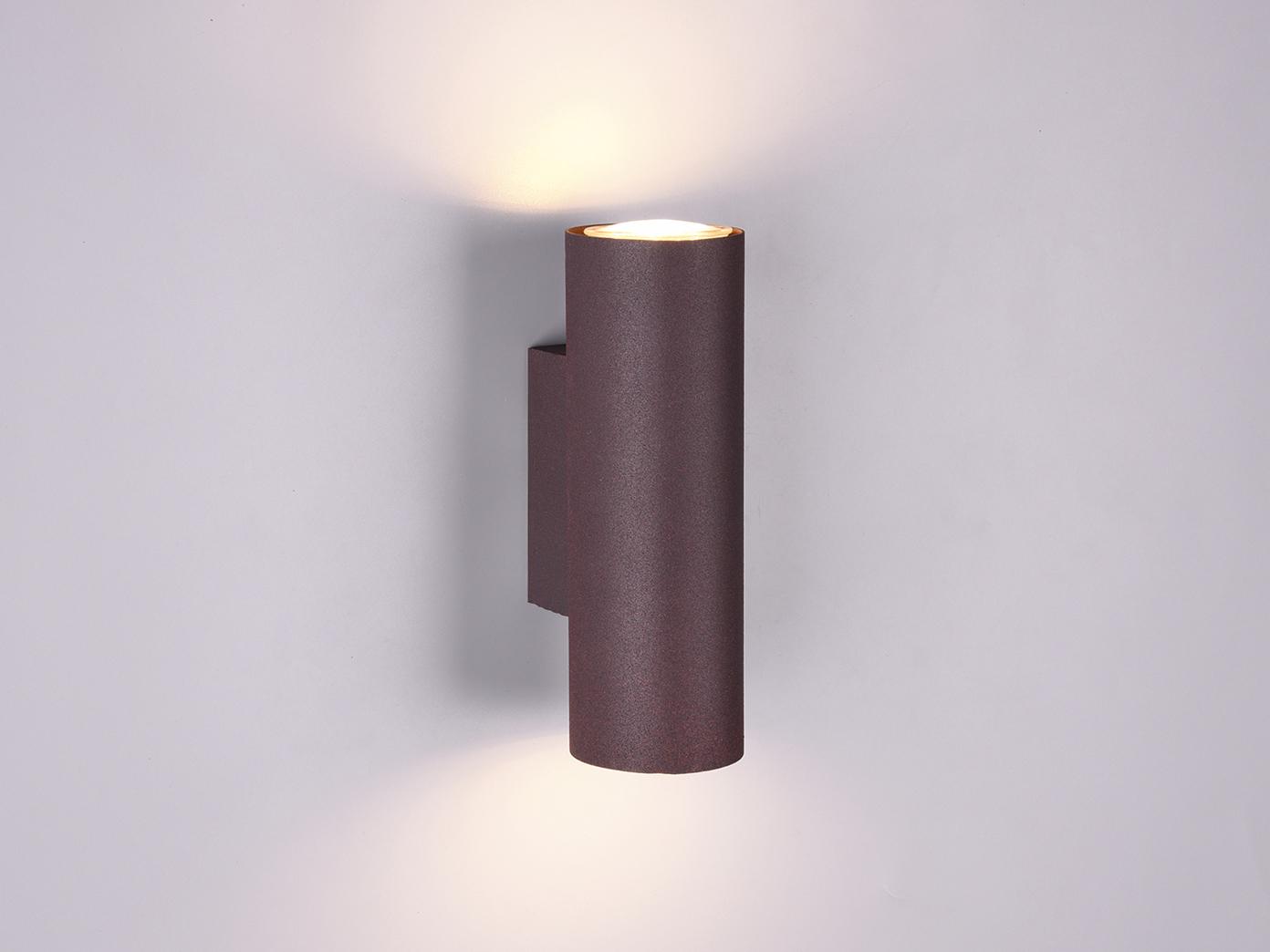 Coole Deckenspot /& Wandstrahler Serie aus rostfarbigem Metall dreh /& schwenkbar