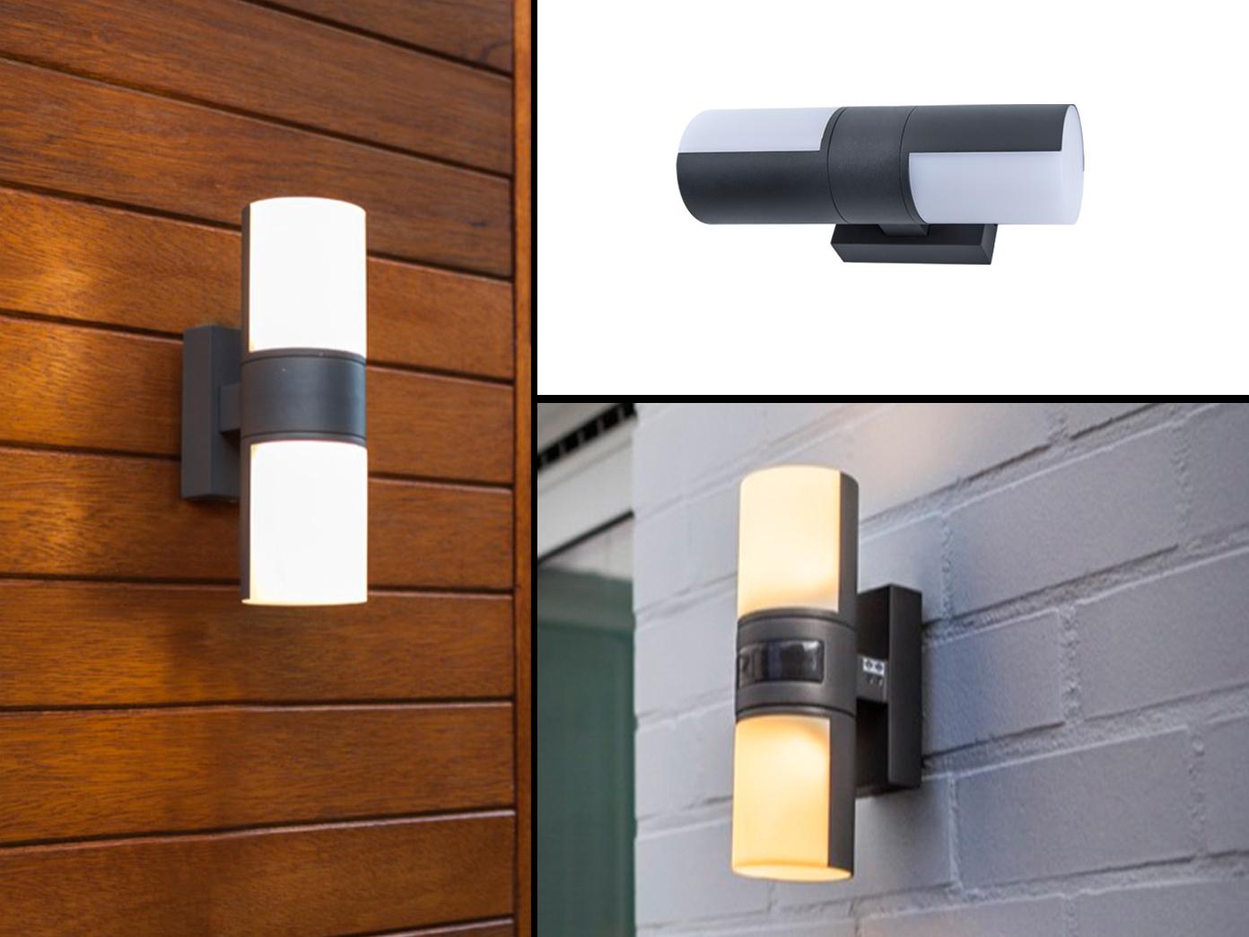 LED iluminación exterior para parojo con detector de movimiento & up and Down light giratorio