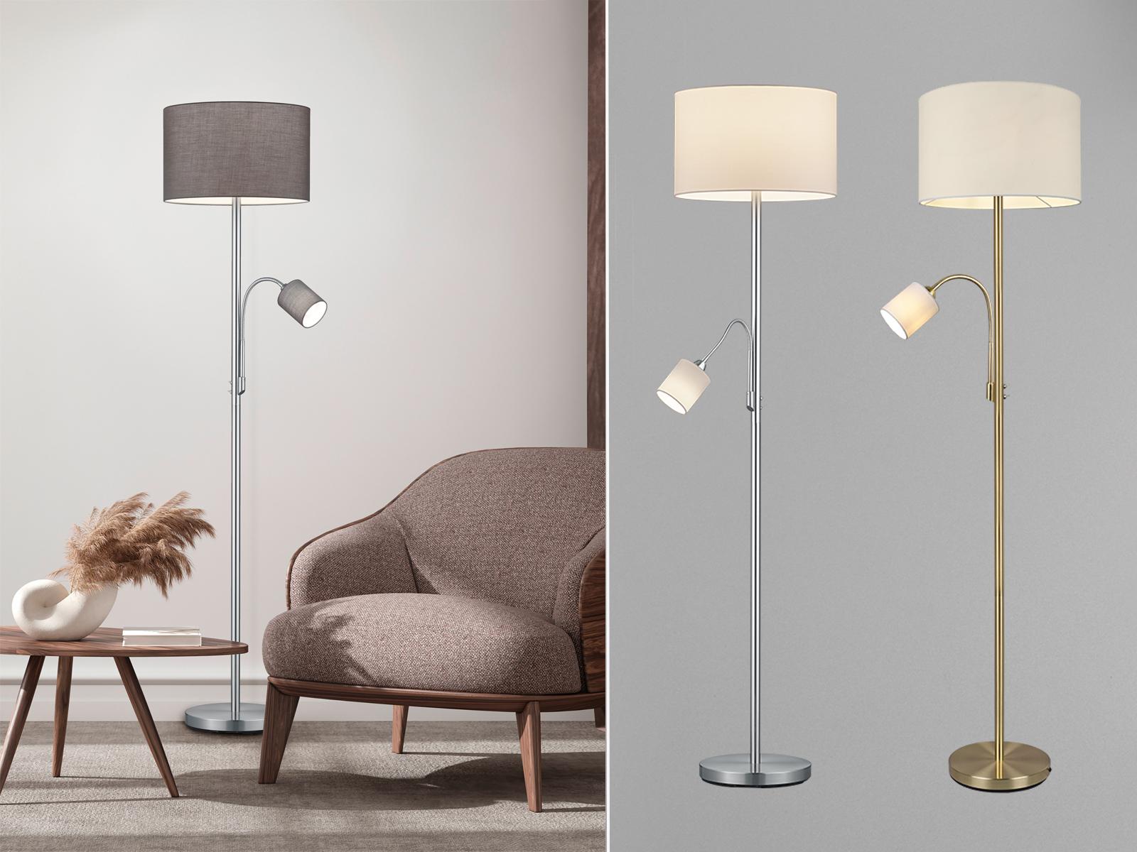 Designer Stehlampen Mit Lesearm Grossem Schirm Rund Stehende