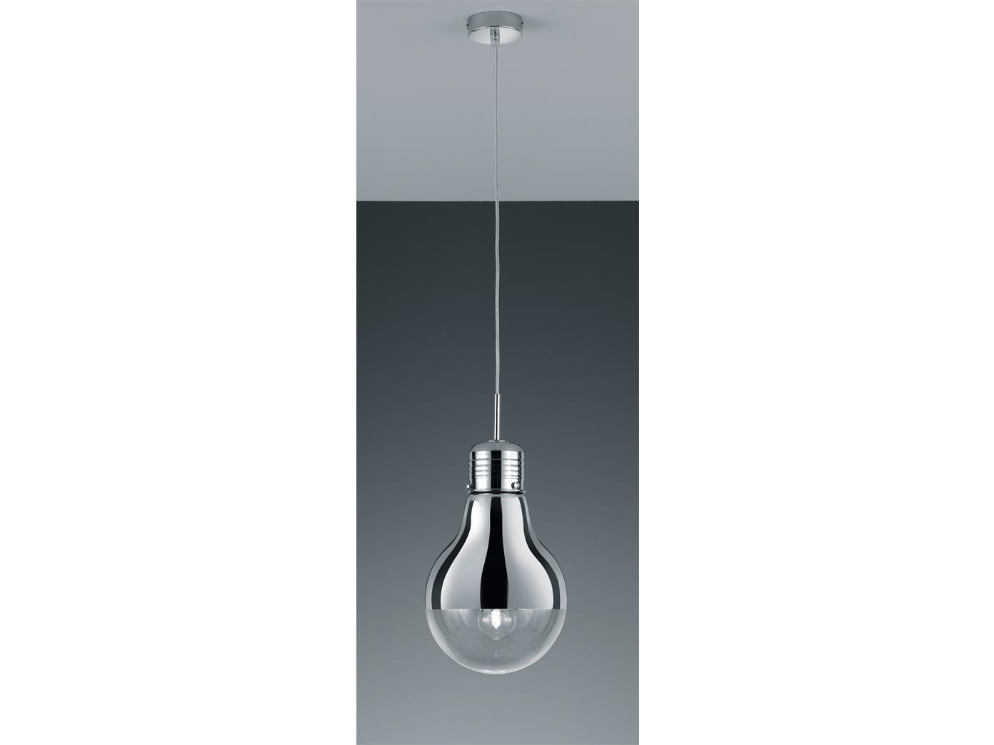 trio pendelleuchte gl hbirne e27 28cm chrom glas verchromt klar 4017807246902 ebay. Black Bedroom Furniture Sets. Home Design Ideas