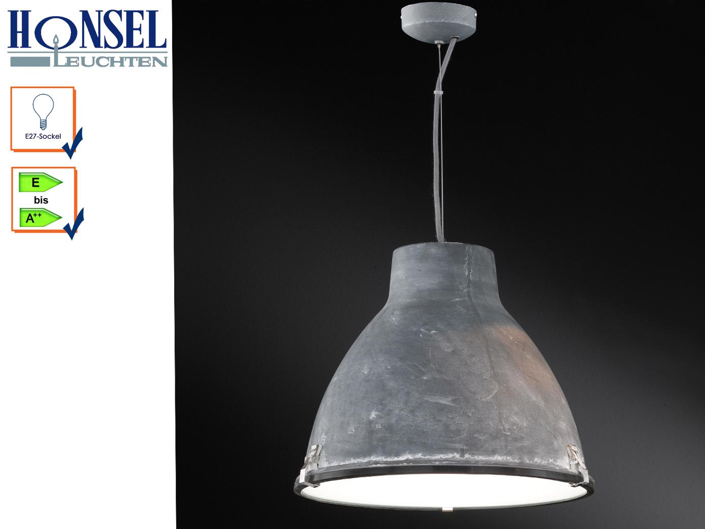 Retro Pendelleuchte Hängelampe Lampe Metall beton farbig LEEDS Ø ...