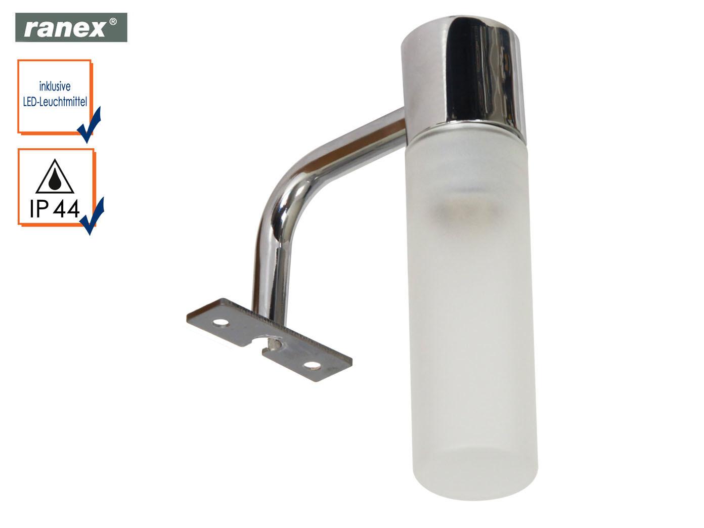 Lampe fürs Bad Spiegelleuchte Design klassich, Lampenschirm Glas ...