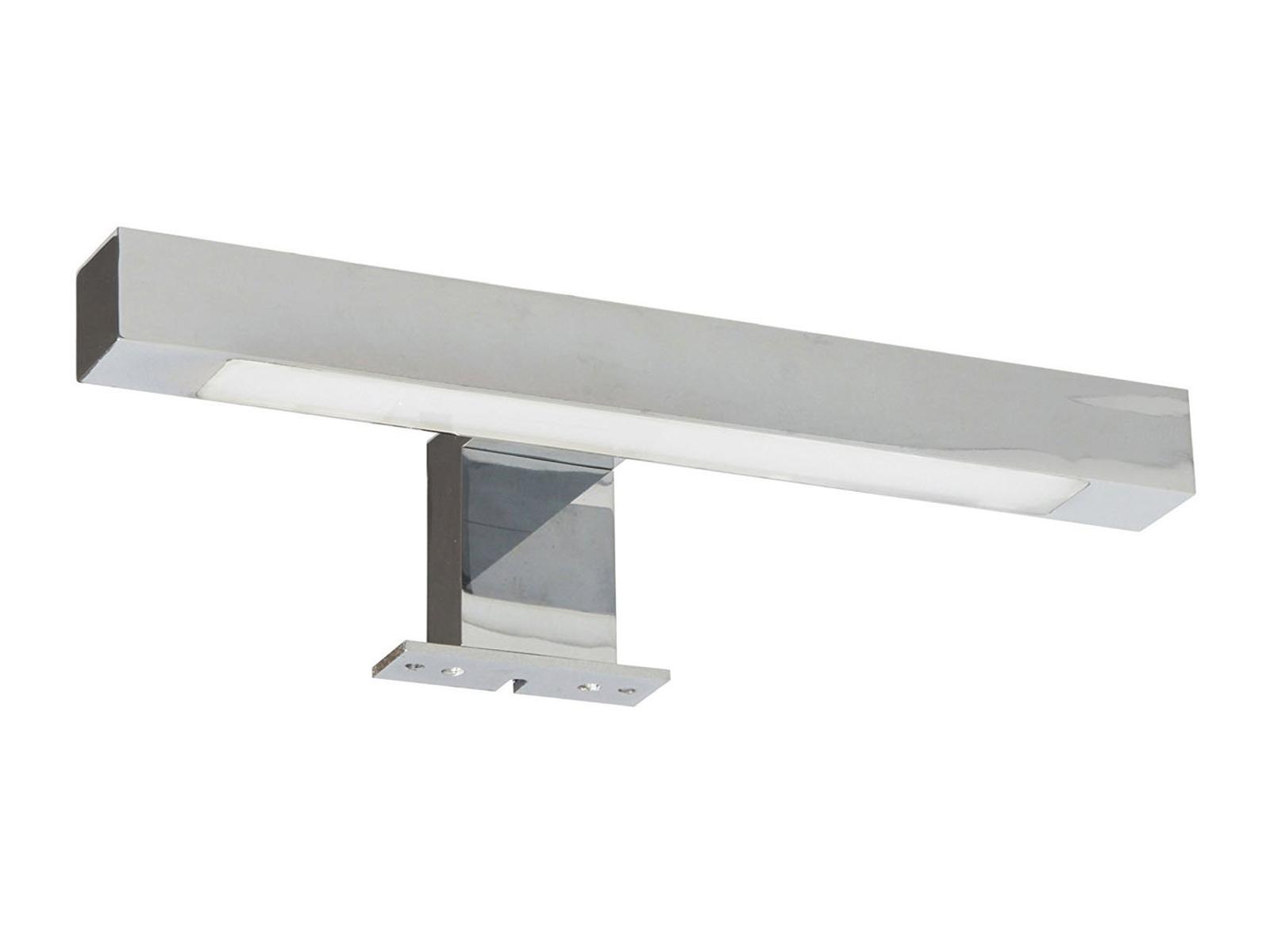 Moderne LED Spiegellampe fürs Badezimmer, Spiegelleuchte Chrom ...