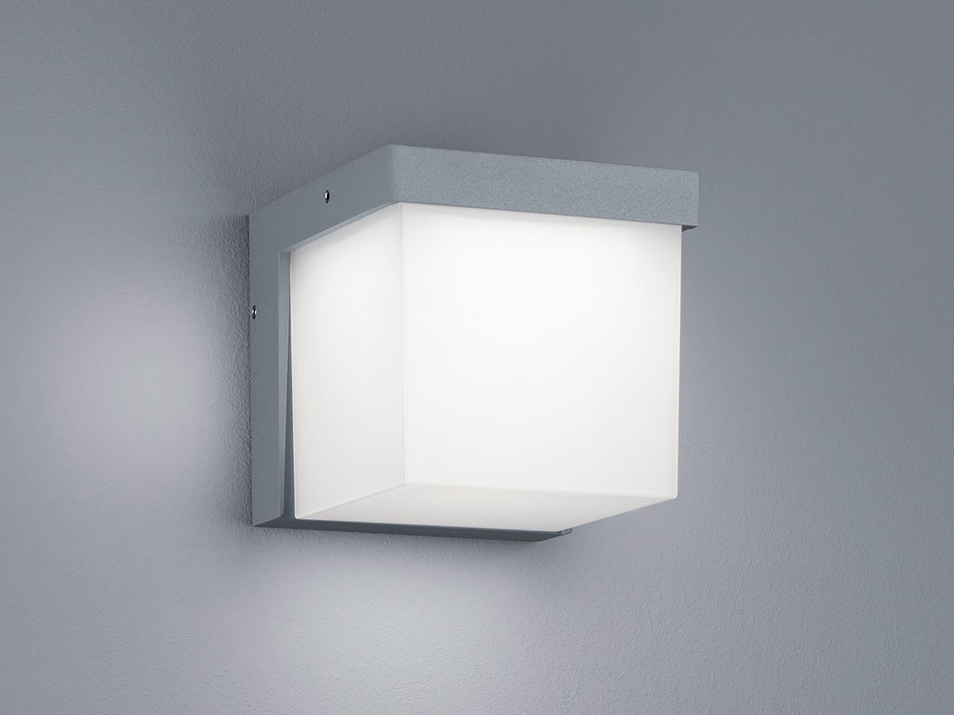 Design led au enleuchte hell grau terrassenbeleuchtung - Terrassenbeleuchtung wand ...