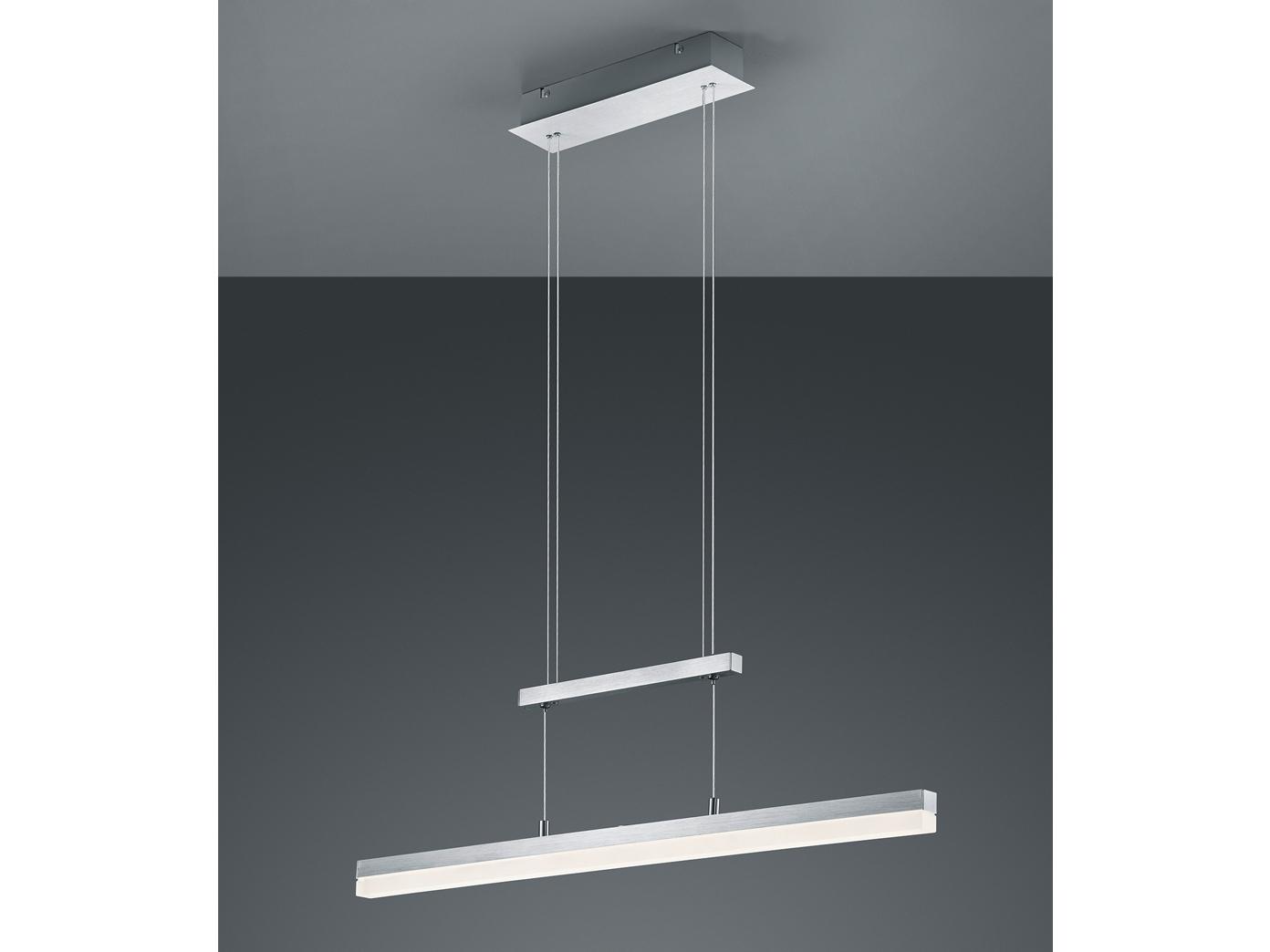 led pendelleuchte h ngelampe h henverstellbar dimmbar alu acrylglas trio ebay. Black Bedroom Furniture Sets. Home Design Ideas