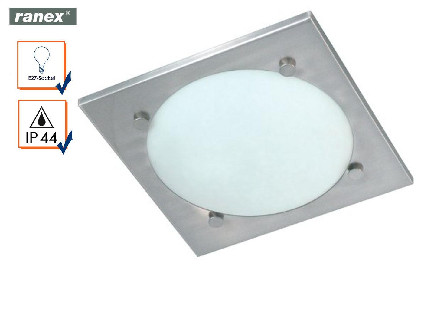 Das Bild Wird Geladen Ranex Bad Deckenleuchte VADO Edelstahl Glas  Badezimmerleuchte Badlampe