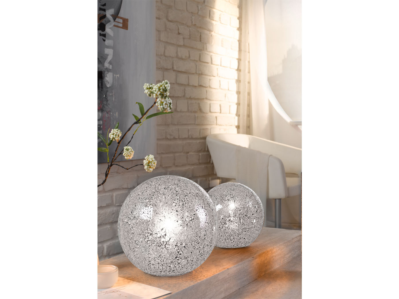 Kugel-Tischleuchte-Tischlampe-25cm-Glas-weiss-Wohnzimmerlampe-Honsel-Leuchten