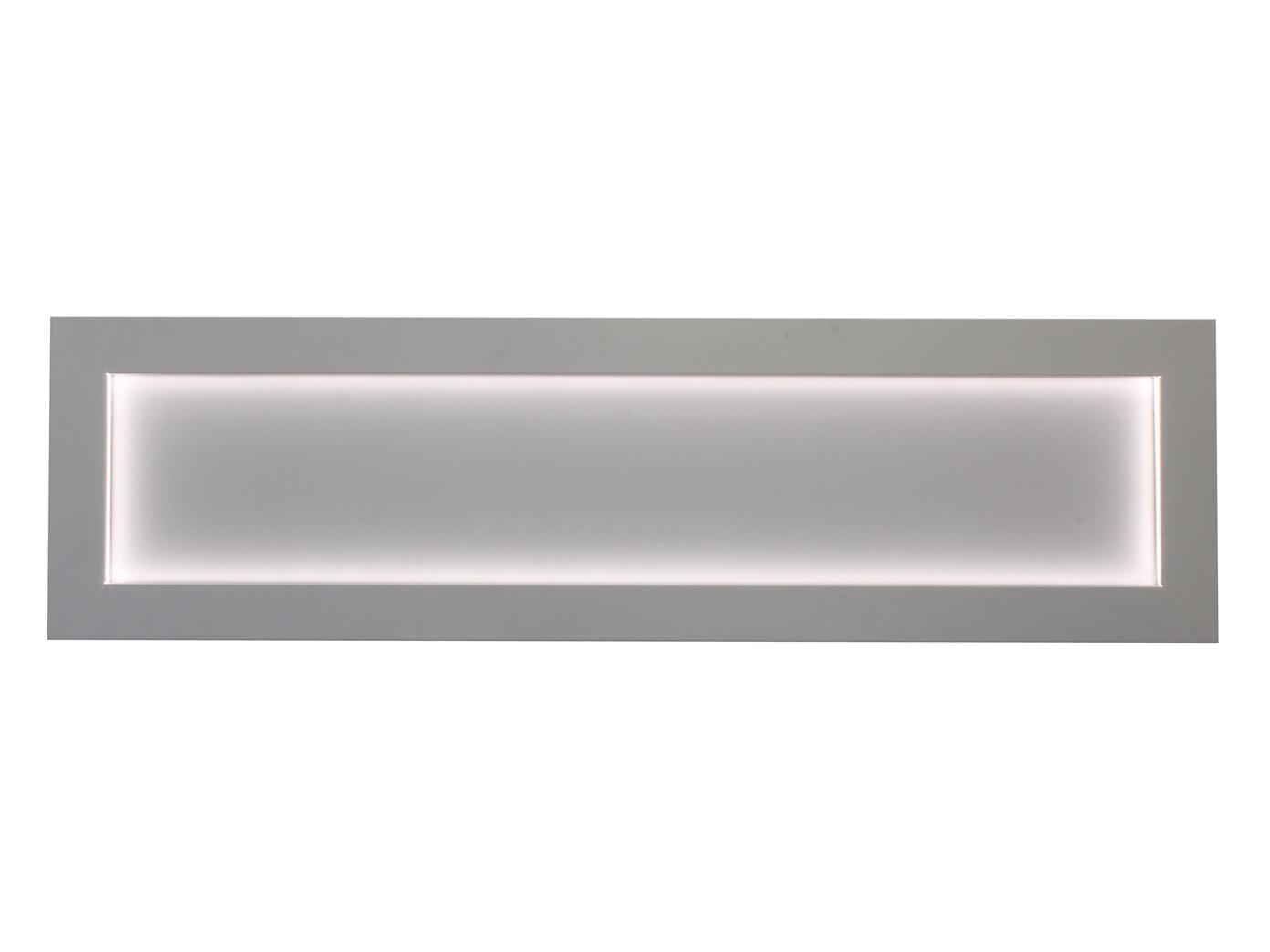 wanddeko magnettafel aus metall mit led beleuchtung 41 x 150 cm 20w kalamitica 8032836942492 ebay. Black Bedroom Furniture Sets. Home Design Ideas