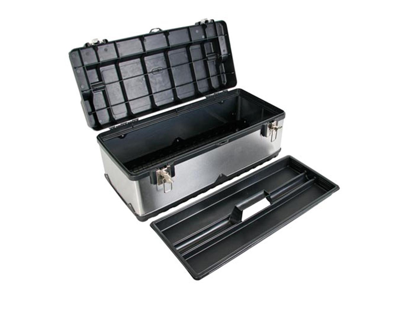 Werkzeugkiste Werkzeugkasten Werkzeugbox rostfreier Stahl 59x28x27cm